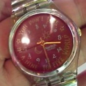 "Swatch Accessories - 1991 Vintage Swatch Watch ""KARABURUN"" GK135 GK136"
